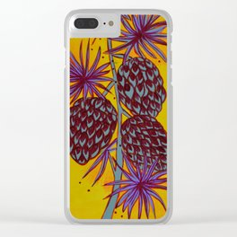 Seed Pods - Pinecones Clear iPhone Case