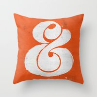 ampersand Throw Pillows featuring Ampersand by Andrei Robu