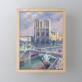 Notre-Dame de Paris by Maximilien Luce, 1900 Framed Mini Art Print