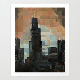 Sears at Sunrise Art Print