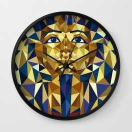 Golden Tutankhamun - Pharaoh's Mask Wall Clock