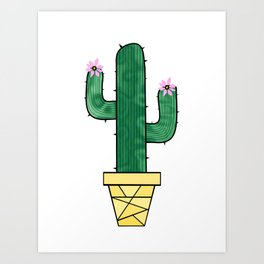 Cute And Prickly Art Print
