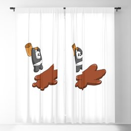 Panda Hammers Grizzly Brown Bear Blackout Curtain