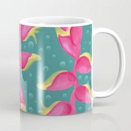Heliconia on Teal Coffee Mug