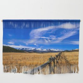 Distant Bighorns - Mountain Scenery in Northern Wyoming Wall Hanging