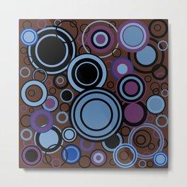 Retro Circle Background Metal Print