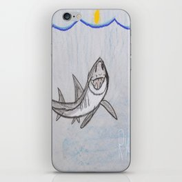 This Great White Shark is Lookin' At YOU! iPhone Skin