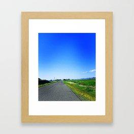 Summer Road Framed Art Print