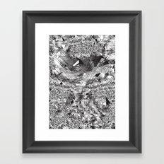 Black Anything Framed Art Print