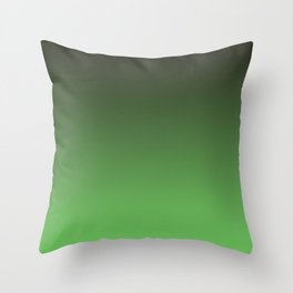 Black and green. Gradient.  Ombre. Throw Pillow