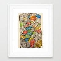 shrek Framed Art Prints featuring Bleep by Kerri Boccard