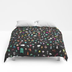 Illustrated Aliens Print Two Comforters