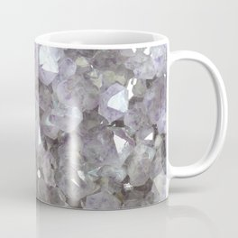 Sparkling Clear Light Purple Amethyst Crystal Stone Coffee Mug