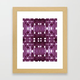 Shibori City Plum Wine Framed Art Print