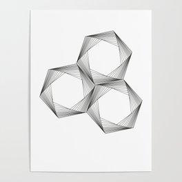 crazy hexagons Poster