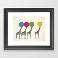 Balancing Act Framed Art Print