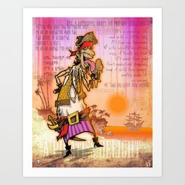 A Pirate's Delight Art Print