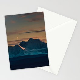 Sunset over the Alaska Range, Delta Junction Stationery Cards