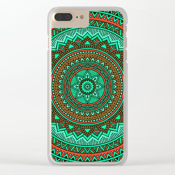 Hippie mandala 87 Clear iPhone Case
