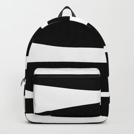 Irregular Stripes Black White Waves Art Design Backpack