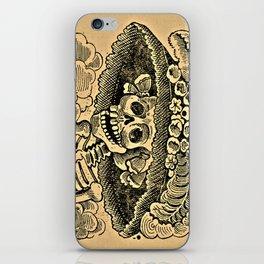 La Calavera Catrina - Dapper Skeleton, zinc etching iPhone Skin