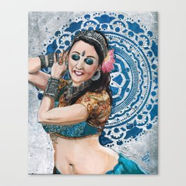 Barbara Oshun Belly Dancer Canvas Print