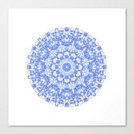 Mandala 12 / 1 eden spirit indigo blue Canvas Print