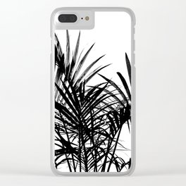 Little palm tree in black Clear iPhone Case
