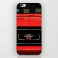 mustang iPhone & iPod Skins featuring Mustang by Barbo's Art