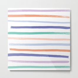 Fruit Stripes - Blueberry Metal Print