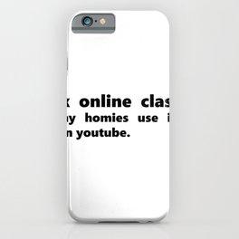 Online Class School Indian Guy Video Meme iPhone Case