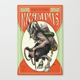 """Here Comes Krampus"" Canvas Print"