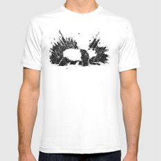 Whiteout Blackout MEDIUM White Mens Fitted Tee