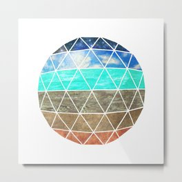 Elemental Geodesic  Metal Print