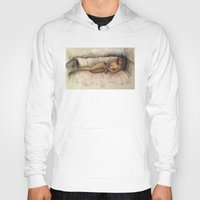 contemporary Hoodies featuring Contemporary nude by Frances Roughton