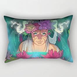 Fairy Lotus Rectangular Pillow
