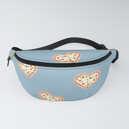 Pizza Heart (Blue) Fanny Pack