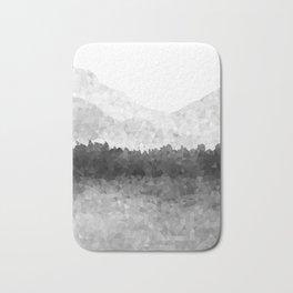 Design 116 Grey Mosaic Landscape Bath Mat