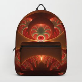 Fractal Mysterious, Warm Colors Are Shining Backpack