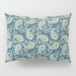 Meredith Paisley - Cerulean Blue Pillow Sham