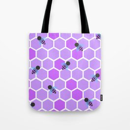 Oh Honey in Purple Tote Bag