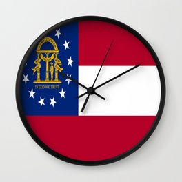 flag of the state of Georgia-Georgian,Gone with the wind,Atlanta,Colombus,Macon,Scarlett o'Hara,Usa Wall Clock
