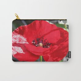 Single Red Poppy Flower  Carry-All Pouch
