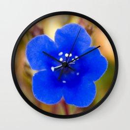Desert Bluebell Alternate Perspective Wall Clock