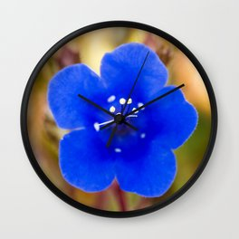 Desert Bluebell Alternate Perspective Wall Clock