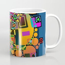 Cubism Modern Art - Dancing In The City 1 Coffee Mug