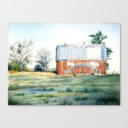 Rainbow Barn Canvas Print