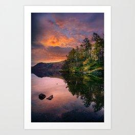 By the Lake Side Art Print