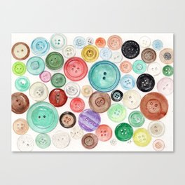 Buttons! Canvas Print