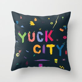 Yuck City Throw Pillow